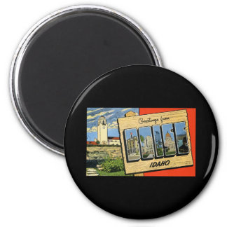 Greetings from Boise Idaho 2 Inch Round Magnet