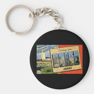 Greetings from Boise Idaho Keychain