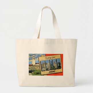 Greetings from Boise Idaho Large Tote Bag
