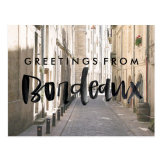 Greetings from Bordeaux France Travel Postcard