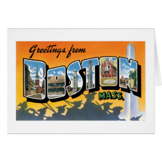 Greetings from Boston! Card