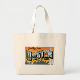 Greetings from Boston! Large Tote Bag