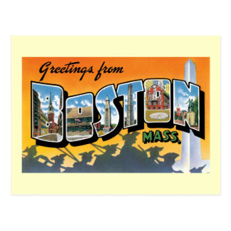 Greetings From Boston, Mass Postcards