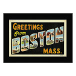 Greetings from Boston, Mass. Poster