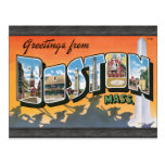 Greetings From Boston Mass., Vintage Postcards