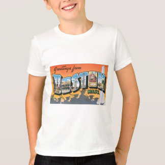 Greetings From Boston Mass., Vintage T-Shirt