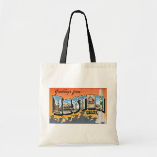 Greetings From Boston Mass., Vintage Tote Bag