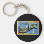 Greetings from Boston Massachusetts Key Chain