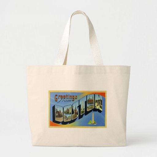 Greetings from Boston Massachusetts Tote Bag