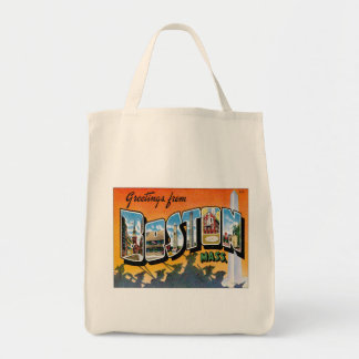 Greetings From Boston Massachusetts Tote Bag