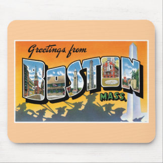 Greetings from Boston! Mouse Pad