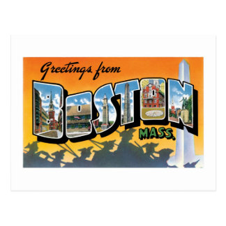 Greetings from Boston! Postcard