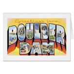 Greetings from Boulder Dam! Greeting Card