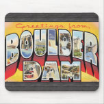 Greetings From Boulder Dam, Vintage Mouse Pad