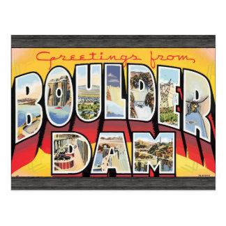 Greetings From Boulder Dam Vintage Postcard