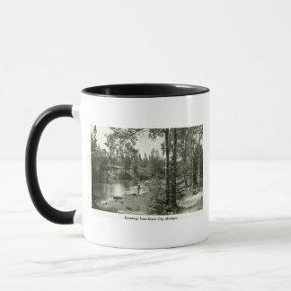 Greetings from Boyne City, MI. Trout Fishing Mug
