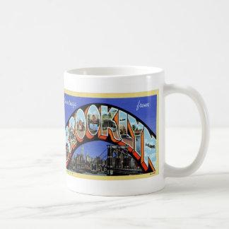 Greetings from Brooklyn Vintage Postcard Mug