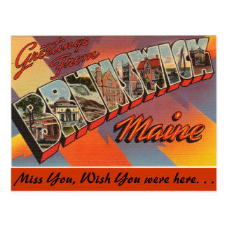 Greetings from Brunswick Postcard