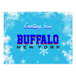 Greetings from Buffalo New York postcard