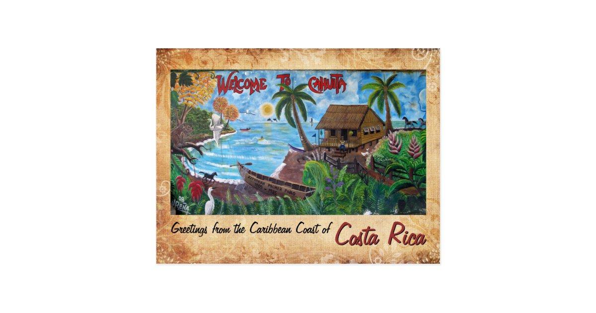 Greetings from cahuita costa rica postcard zazzle m4hsunfo