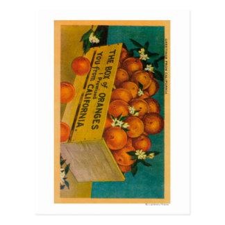 Greetings from California, Box of OrangesState Postcard