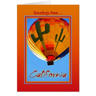 Greetings From California Card