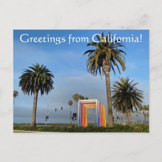 Greetings from California: Chromatic Gate Postcard