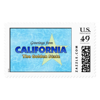 Greetings from California Postage Stamp