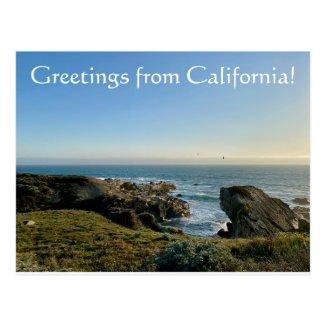 Greetings from California! Postcard