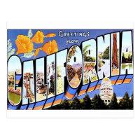 Greetings from California Postcard