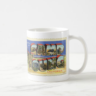 Greetings from Camp Young Vintage Postcard Mug