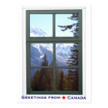 Greetings from Canada Rocky Mountains Window View Post Cards