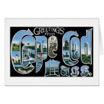 Greetings from Cape Cod, Mass! Greeting Card