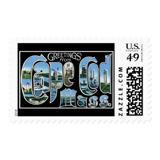 Greetings from Cape Cod Mass. Postage Stamp