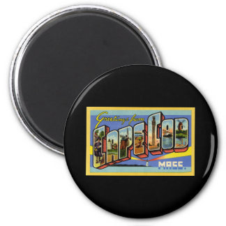 Greetings from Cape Cod Massachusetts 2 Inch Round Magnet