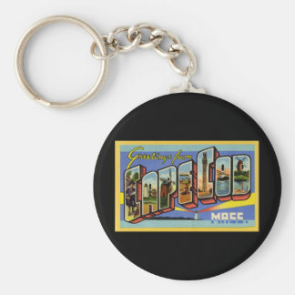 Greetings from Cape Cod Massachusetts Basic Round Button Keychain