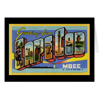 Greetings from Cape Cod Massachusetts Greeting Card