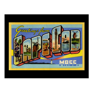 Greetings from Cape Cod Massachusetts Postcard