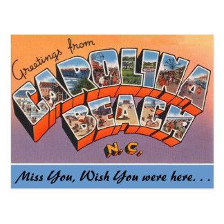 Greetings from Carolina Beach Postcard