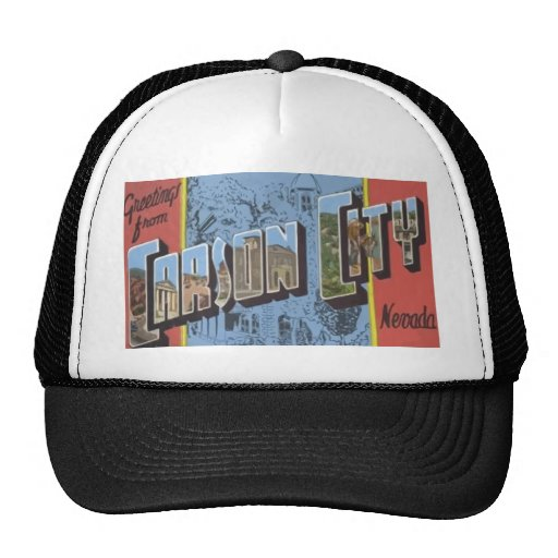 Greetings From Carson City Nevada, Vintage Trucker Hat