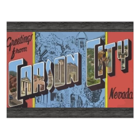 Greetings From Carson City Nevada, Vintage Postcard