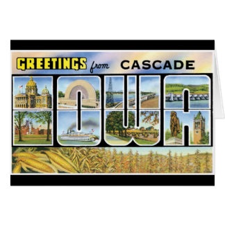Greetings From Cascade Card