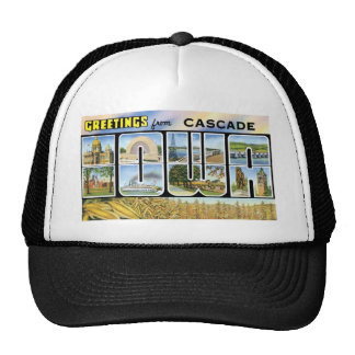 Greetings from Cascade Iowa Hat