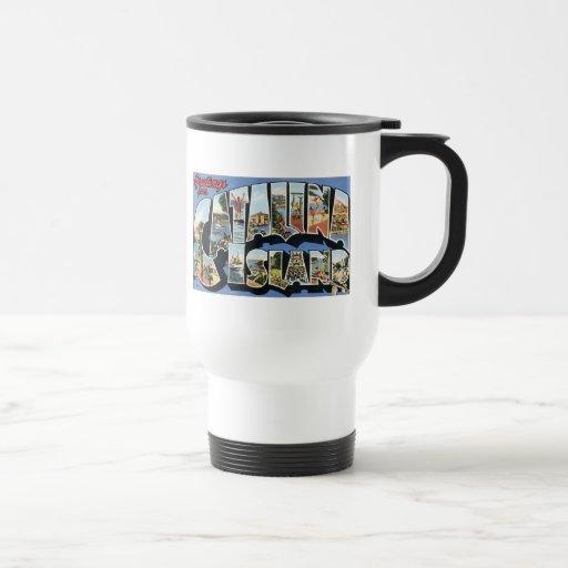 Greetings from Catalina Island 15 Oz Stainless Steel Travel Mug