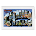 Greetings from Catalina Island, California Retro Card