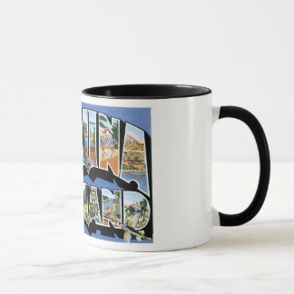 Greetings from Catalina Island, California Retro Mug