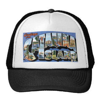 Greetings from Catalina Island, California Retro Trucker Hat