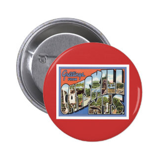Greetings From Catskill Mountains 2 Inch Round Button