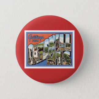 Greetings From Catskill Mountains Pinback Button