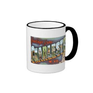 Greetings from Charleston, West Virginia! Vintage Ringer Coffee Mug